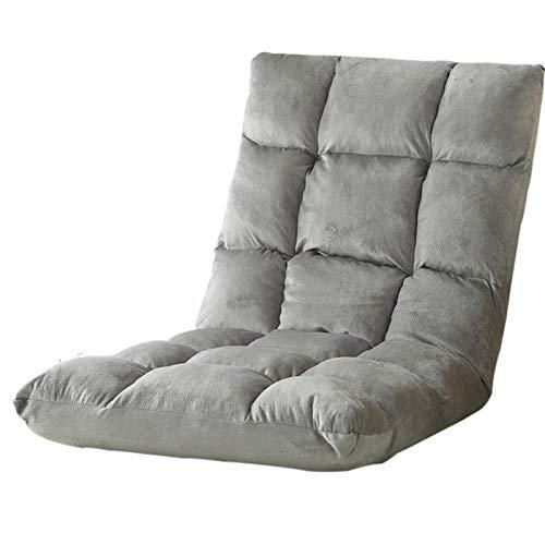 Faules Sofa, verstellbarer Bodenstuhl, Memory Foam Faltbarer Spielstuhl, einstellbares Rückenkissen für Home Büro Wohnzimmer, Bodensofa für Tatami, flauschige Bohnenbeutelkissen im Wohnzimmer 40x80cm