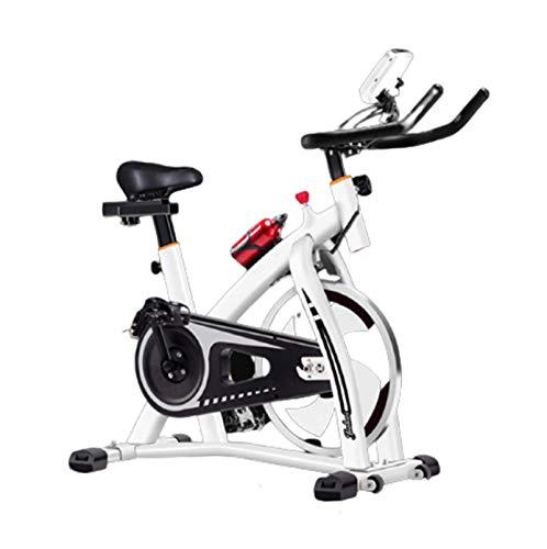 Gycdwjh Bicicleta De Ejercicio,Bicicleta De Fitness Cubierta Bicicleta De Ejercicio Profesional Ajustable con Pantalla LCD para Hacer Ejercicio en Casa