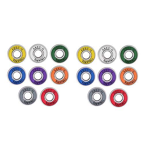 freneci Paquete de 16 Rodamientos de Monopatín ABEC 11 de 8 X 22 X 7 Mm para Longboard/en Línea/Hockey/Rodillo