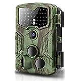 トレイルカメラ 16MP 1080P HDデジタル防水狩猟スカウティングカム 120度広角レンズ 0.3秒トリガースピードモーション活性化ナイトビジョン 野生生物モニタリング用