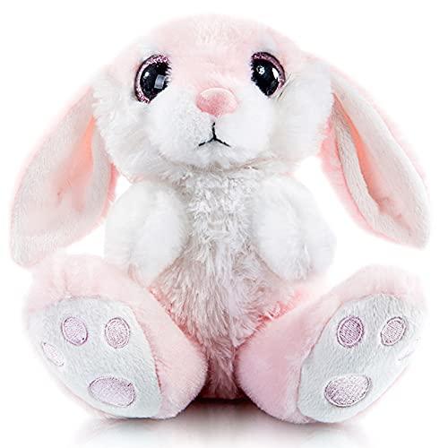 "My OLi 8"" Bunny Rabbit Plush Bunny with Floppy Ear Stuffed Animal Pink Bedtime Friend Gifts for Babies Kids Boys Girls"
