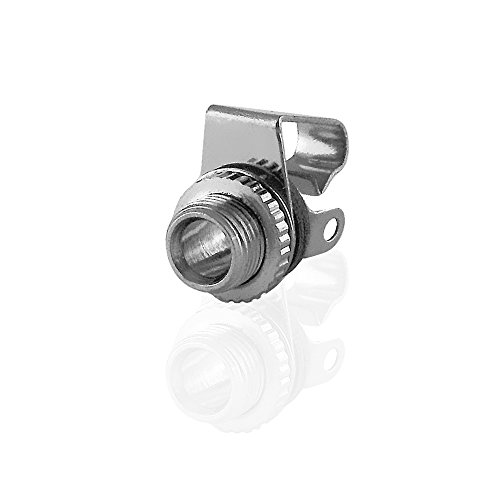 BestPlug Audio Mono Aux in Out 3,5mm Klinke Einbau-Buchse Terminal weiblich 2pol, Metallausführung