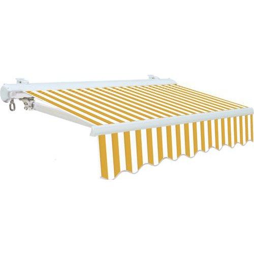 TENDA DA SOLE CASSONATA per Balconi con BRACCI BIANCO/GIALLO 300x250 cm