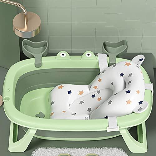 Bagnetto Neonato con Tappetino Antiscivolo,Vaschetta da Bagno Ripiegabile Pieghevole Bagnetto Vasca per Bambini 0-3 Anni Vasca da Bagno Conservabile
