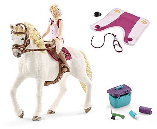 3in1-SET Schleich Pferde Horse Club - Sofia & Blossom mit Decke Halfter und Pflegeset