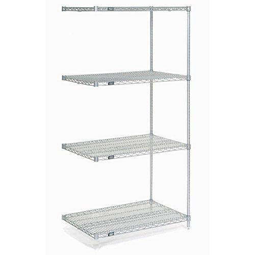 Chrome Wire Shelving Add-On, 24'W x 21'D x 74'H