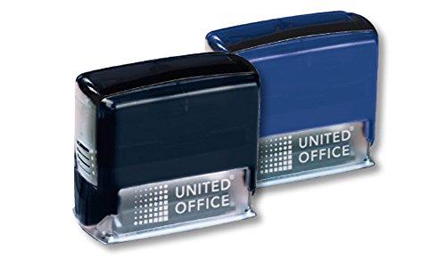 Textstempel Firmenstempel Adressstempel schwarz Stempel für Papier und Textilien - waschfest bis 90 °C