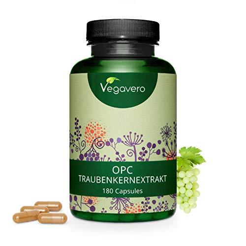 OPC Vegavero® | 180 capsule | Estratto di Semi d'Uva | Alto dosaggio | 70{62cd4f56f467cee57281f1cc57fa9ec40de5426251136871781c6693bf5fb39a} Proantocianidine | Antiossidante e Funzionalit della Circolazione | Vegan