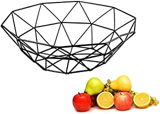 AIWANTO Creative Fruit Basket Bowl Metal Storage Container Centerpiece Display Bowl for Living Room Decoration and Modern ...