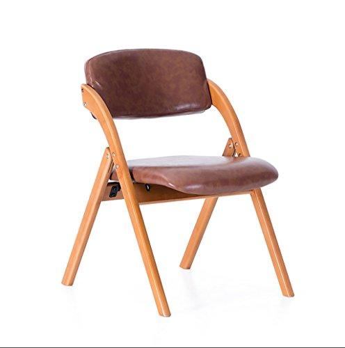 Chair QL Klappstühlen Esszimmerstuhl Einfacher Baumwollstuhl im europäischen Stil Klappbarer Freizeitstuhl aus massivem Holz Klappstuhl aus massivem Holz kann waschbar Sein Restaurant Klappstühle