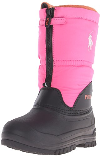 Polo Ralph Lauren Kids Avalanche Zip Winter Fashion Boot (Toddler/Little Kid/Big Kid), Bright Pink, 8 M US Toddler