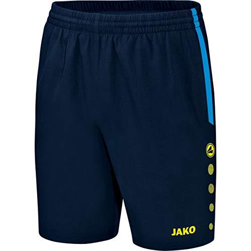 Jako 6217, Pantaloncini Uomo, Multicolore (marine/Blau/Neongelb), M