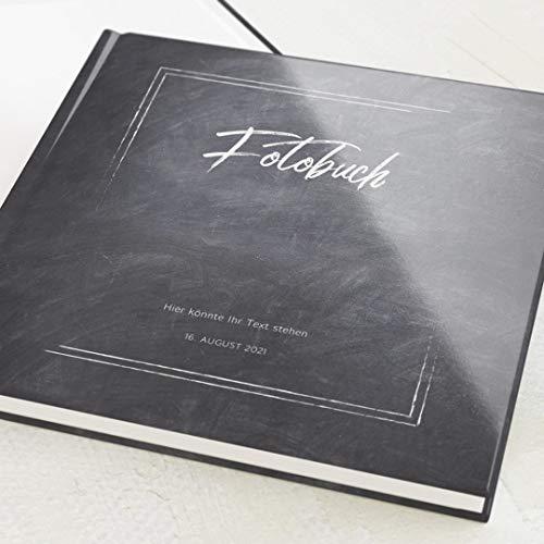 sendmoments Fotoalbum zum Selbstgestalten, Tafel, personalisiert mit eigenem Text, quadratisches Format, 32 leere weiße Seiten oder mehr