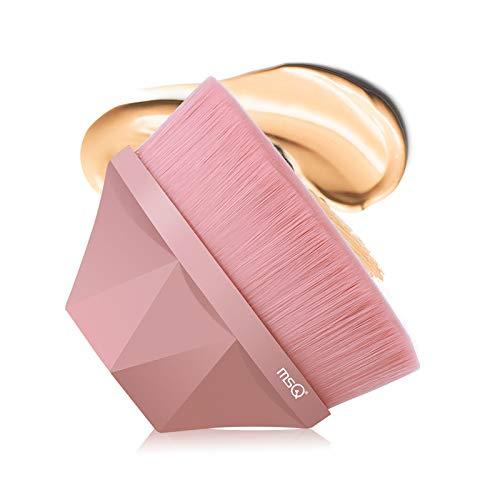 MSQ Foundation Pinsel Make-up Pinsel Flat Top Gesicht Pinsel Groove Design Blush Pinsel zum Mischen von Flüssigkeit, Creme, Concealer Premium