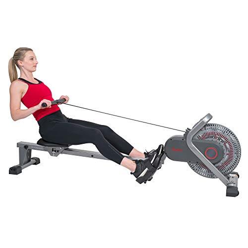 Sunny Health & Fitness Air Fan Rowing Machine Ergometer - SF-RW520050