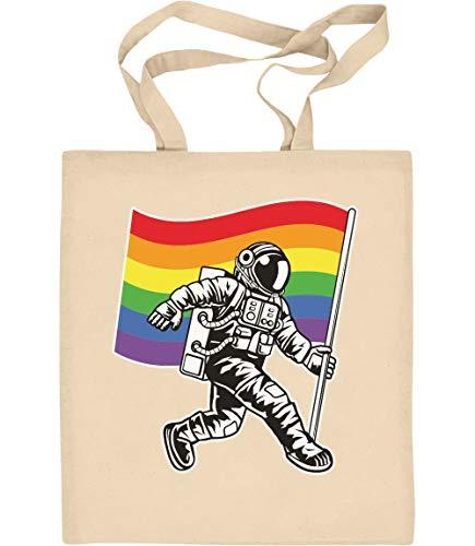 Gay Pride Rainbow - NASA LGBT Flagge Jutebeutel Baumwolltasche One Size Natur