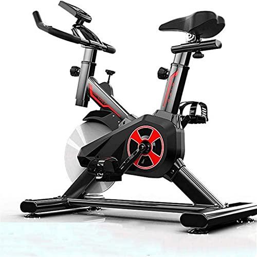 FHDFH Attrezzature Casa Palestra Esercizio Bike, Indoor Ciclismo Stazionaria Bike, Resistenza Magnetica con Volano 10KG Trasmissione a Cinghia Monitor LCD