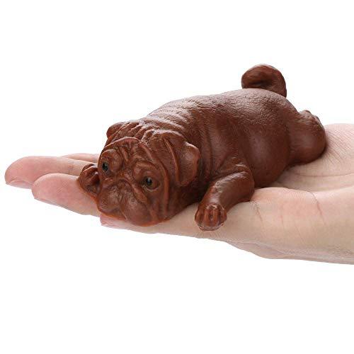 Hailiang Mochi Pug Puppy Sensory Toy Store EXTENCIONE Squishy SQUISE, Regalo de Juguetes de Levantamiento Lento Suave y perfumado para niños y Adultos (Color : Black)