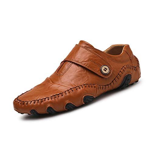 Zhang Herren Comfort Schuhe Sporty/Casual Tages Outdoor-Loafers & BelegONS Leder Abrutschsicherer Wear Proof/Fahren Schuhe Schwarz/Braun,Braun,43