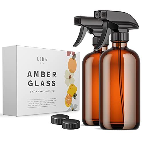 LiBa Amber Glass Spray Bottles