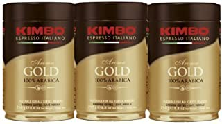 Kimbo Espresso Coffee Italiano Aroma Gold 100% Arabica 3 pack
