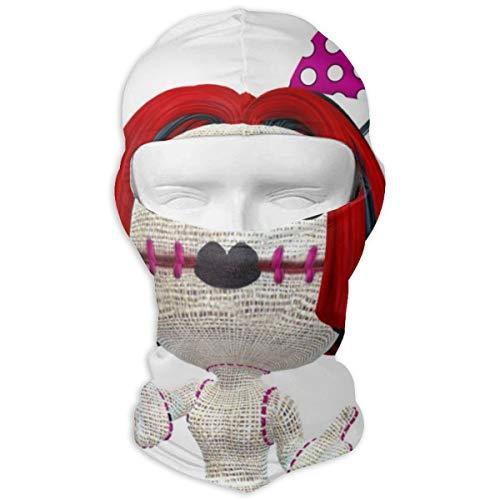 Cavdwa Voodoo Puppe Vollmaske Sonnenschutzmaske Radfahren Jagd Wandern Skifahren Maske Doppelschicht-Kalt für Männer und Frauen