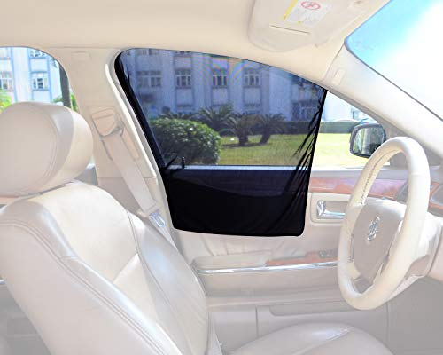 Bayan Front Side Window Sun Shade Car Window Shade Driver Side Window Sunshades-2 Pack