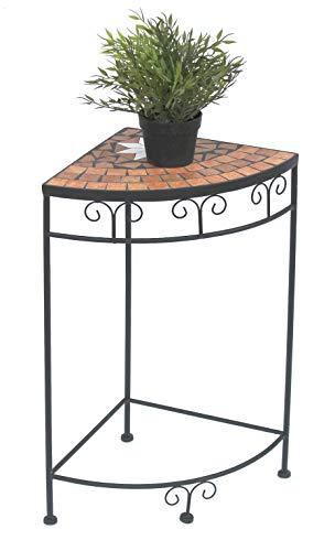DanDiBo Blumenhocker Mosaik Eckregal 62 cm Blumenständer 12013 Beistelltisch Pflanzenständer Mosaiktisch Ecke