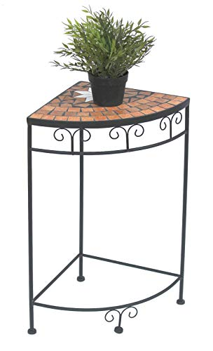 DanDiBo Blumenhocker Mosaik Eckregal 62 cm Blumenständer 12013 Beistelltisch Pflanzenständer...