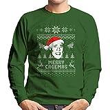 Cloud City 7 Merry Cagemas Nicolas Cage Christmas Knit Pattern Men's Sweatshirt
