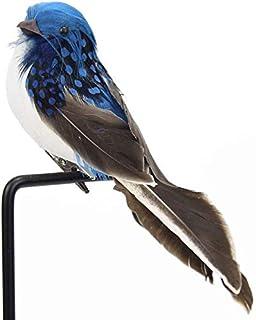 CAR-TOBBY 1Pc Mini Faux Oiseaux Artificiel Mousse Plumes Mini Oiseau Décoration Table Anniversaire Fête Décorations - BL
