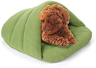 YUCHAO Slipper Shape Polar Fleece Warm Thicken Pet Dogs Cats House Size: S, 38×48×23cm(Coffee) (Color : Green)