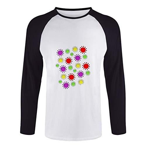 Hantu Unisex Long Sleeve Coronavirus Cartoon-ps Baseball t-Shirt