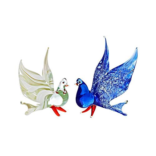 CRISTALICA Taube Medium 6-15cm Glas Tiere Vogel Figuren Sammeln Vitrine Miniatur