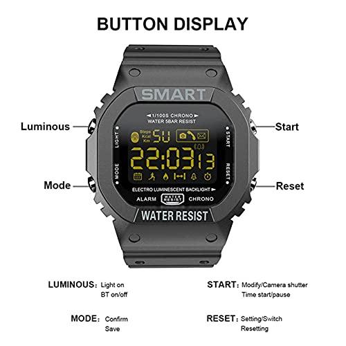 HJYBYJ MK22 Smart Watch Men Fitness Bracelet Pretometer Pedómetro A Prueba De Agua Recordatorio De Llamadas Reloj Digital SmartWatch (Color : Blue)