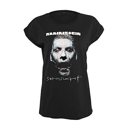 Rammstein Frauen Damen Girlie Shirt Sehnsucht Schneider, Offizielles Band Merchandise Fan Shirt schwarz mit Front Print (XL)