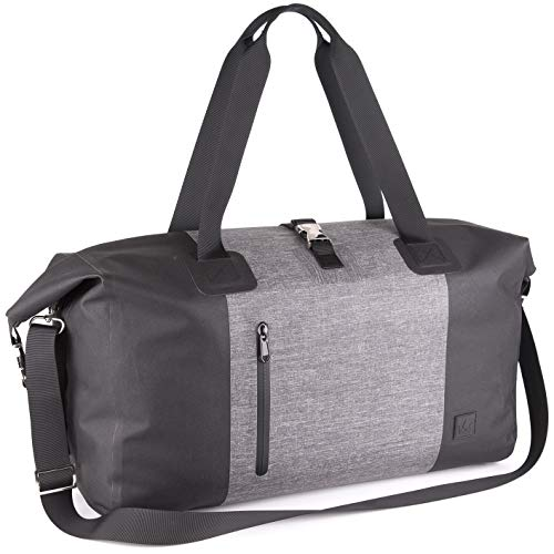 The Friendly Swede Exclusive Waterproof Weekender Bag Duffel for Women and Men - HÅGA - Urban Chic - with 15.6 inch Laptop Pocket, 30L