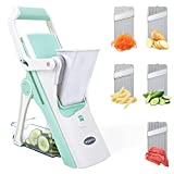 Wimaha Mandoline Slicer Vegetable Cutter & Julienne, Safe Food...