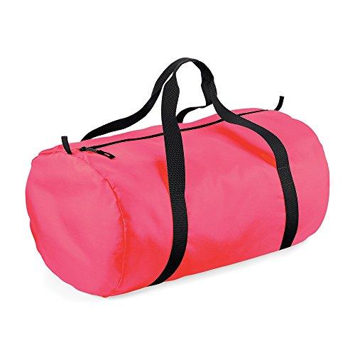 BagBaseborsa a sacca ripiegabile Fluorescent Pink / Black Taglia unica