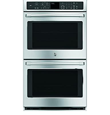 """GE CT9550SHSS Cafe 30"""" Stainless Steel Electric Double Wall Oven - Convection"""