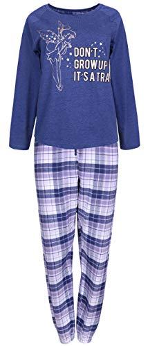 Pijama a Cuadros, Color Azul, Campanilla, Tinker Bell X-Large