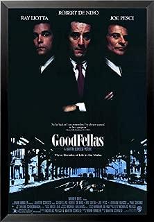 Buyartforless Work Framed Martin Scorsese's Goodfellas - Three Decades of Life in The Mafia 36x24 Movie Art Print Poster, Black