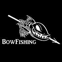 ステッカー剥がし 16.7CM * 8.4CMボウ釣り車のステッカーBowfishingリール魚のビニールステッカーインテリアブラック/シルバー ステッカー剥がし (Color Name : Silver)