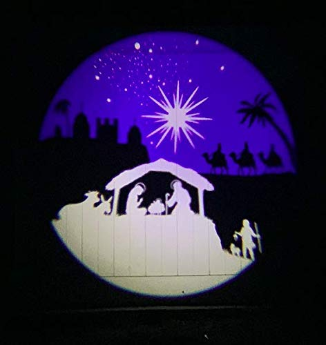 Nativity Scene Outdoor Projector by Beffy Arts, Christmas in Bethlehem, Christian Themed holy Night Scene for Christmas Outdoor Lighting Outdoor Decoration