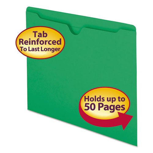 Buy Smead Colored File Jackets W/Reinforced 2-Ply Tab, Letter, 11Pt, Green, 100/Box