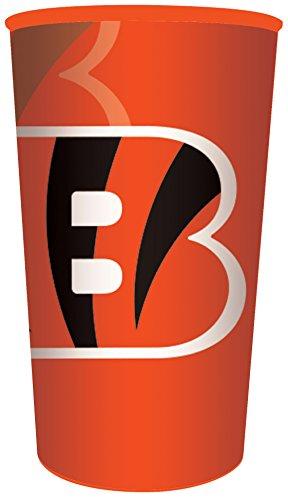 Creative Converting NFL 20 Count Plastic Souvenir Cups, Cincinnati Bengals, 22 oz, Orange