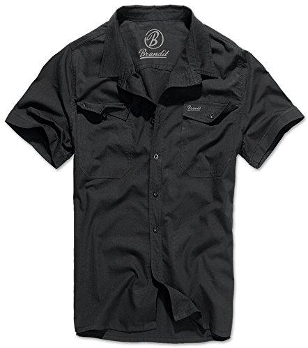 Brandit Hemd Roadstar, Black Uni ,  XL