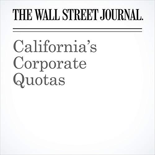 California's Corporate Quotas copertina
