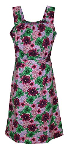 Schuerzenfabrik Kleid Hauskleid Gartenkleid Strandkleid Sommerkleid, Größe:44, Modell:Modell 1