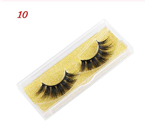 ZZDJ Faux Cils Makeup Natural Mink Eyelashes 25mm Wispy Fluffy 3D Fake Lashes Makeup Big Volume Crisscross Handmade False Eyelash Thick Long Lashes E